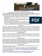 Jumaa Prayer Bulletin May 29, 2015