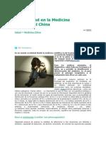 La Ansiedad en La Medicina Tradicional China