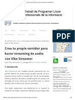 Crea Tu Servidor Para Hacer Streaming de Audio Con Vibe Streamer
