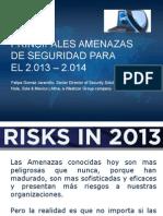 Amenazas de Seguridad 2013-2014