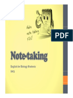 Note Taking 2013