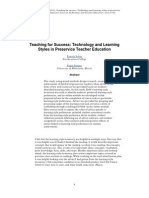 unit 1 solvie, p   senske, l  (2009)  teaching for success linking technology and learning styles in preservice teacher education