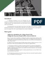 Crimes No Código de Trânsito Brasileiro - Lei 9.503-97
