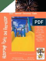 2015 Summer Activities Guide