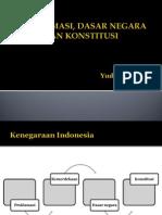 Proklamasi, Dasar Negara Dan Konstitusi