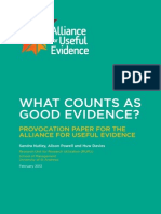 What Counts as Good Evidence WEB