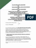 Statutory Declaration of Association of Churches (PDF)