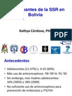 KATHYA CORDOVA_Determinantes de La SSR en Adolescentes_BOLIVIA