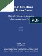 Vicari, P. (Comp) Escenas Filosóficas Para La Enseñanza.