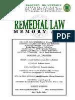 FEU Remedial Law Memory Aid 2006