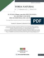 EL PUMA (Puma concolor) RECOLONIZA  DEL ECOSISTEMA DE LAS PAMPAS  EL CENTRO Y EL ESTE