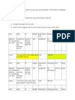 shipping costs assignment