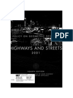 Policy on Geometric Design of Highways and Streets 2001
