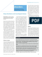 Sleep Disturbance and Neurological Disease