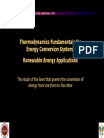 Thermodynamics Fundamentals for Energy Conversion Systems Sunum 60 Pages