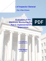 Evaluation of the City's Electronic Monitoring Program Part 2