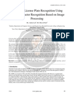 Automatic License Plate Recognition Using Optical Character Recognition Based on Image Processing