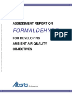 Assessment Report on Formaldehyde for Developing Ambient Air Quality Objectives
