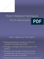 Role of Statistical Techniques