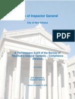 Revenue IA Performance Audit of the Bureau of Revenue's Internal Controls - Compliance Divisionnternal Controls - Compliance Division