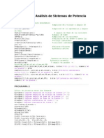 Programas Análisis de Sistemas de Potencia (1)
