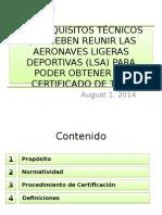 Los Requisitos Técnicos Que Deben Reunir Las Aeronaves Ligeras Deportivas Para Poder Obtener Un Certificado de Tipo