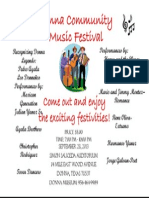 Donna Community Festival Poster