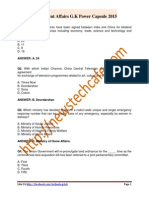 www.newstechcafe.com GK Power Capsule of Current Affairs for Bank,SSC,Rly Exam 2015