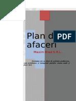 Business Plan - Maxim Brad S.R.L. 2012