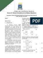 RELATÓRIO 2- Método de Identificação Dos Mínimos Quadrados