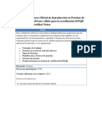 Curso Oficial de Introducción en Pruebas de Software válido para la acreditación ISTQB Certified Tester