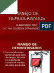 25.- MANEJO DE HEMODERIVADOS.ppt