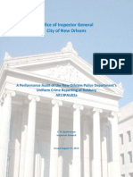 A Performance Audit of the NOPD's UCR Reporting of Robbery