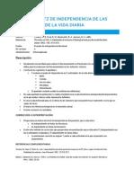 Indice de Katz de Independencia de Las ACTIVIDADES de LA VIDA DIARIA