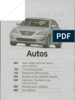 Consumer Reports Buying Guide 2010 - Auto