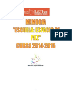 Memoria Escuela Espacio de Paz - CEIP San José (La Puebla de Cazalla) 2015