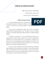 Lenguas Aislantes Resumnen I Presentar