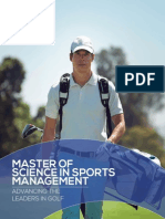CALUMS Masters of Sciences in Sports Management Program