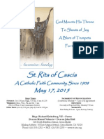 St. Rita Parish Bulletin 5/24/2015