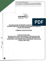 AMC 007-2014 Contratación Del Servicio