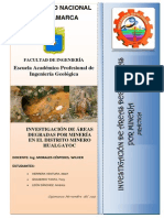 Investigación de Áreas Degradas Por Minería en El Distrito Minero (2)