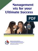13413427 Self Management Success Secrets(Nayagan B)