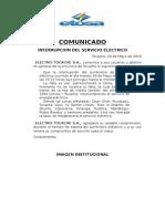 Comunicado 05-20-15