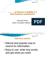 Full Text Search with MySQL 5 1  New Features   How To Presentation
