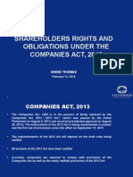Shareholders Rights and Obligations