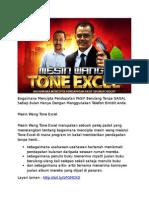 Mesin Wang Tone Excel