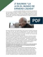 Articulos Sobre Zygmunt Bauman