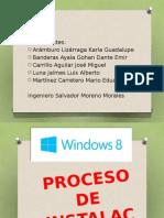 Exposición de instalación de Sistema Operativo Windows 8.
