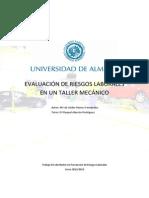 Ejemplo de Evaluacion de Riesgo Taller Mecanico