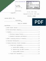 BMI Pandora Ruling